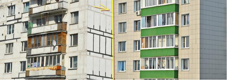 Вентилируемый фасад из керамогранита цена за м2 стоимость работ