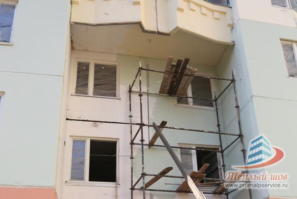 Утепление швов серии и-155 н в типовом панельном домае.