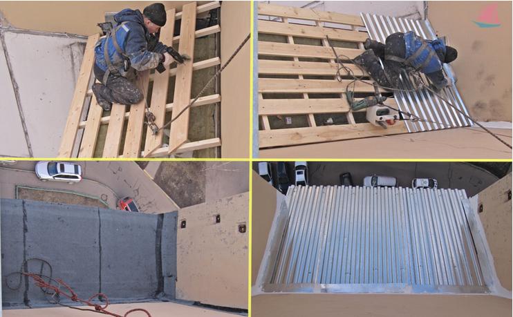 Пример возведения каркаса для крыши балкона