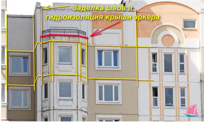 Для устранения течи на балконе необходимо выполнить герметизацию швов, а также гидроизоляцию отливов и примыканий