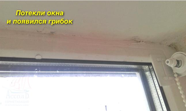Это и является главной причиной, почему потеют окна, а стена становится сырой